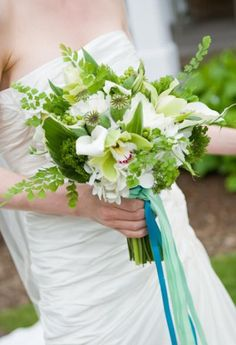 Green and white bouquet - great for spring!