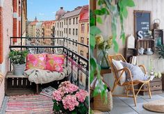22 easy ways to instantly upgrade your balcony Balcony Bench, Small Balcony Decor, Balcony Garden, Balcony Ideas, Apartment Balcony Decorating, Apartment Balconies, Condo Living, Apartment Living, Outdoor Spaces