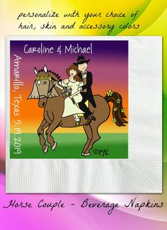 Wedding Napkins Personalized Beverage Napkins by WorksOnWeddings