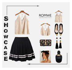 """Gold by romwe !"" by tory-lol ❤ liked on Polyvore featuring Zara, Alexander McQueen and Dolce&Gabbana"