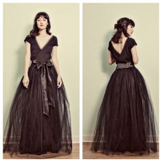 I'm not a fan of the bow, but the dress itself is pure love.