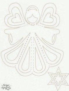 Anjo de papel , molde para recortar