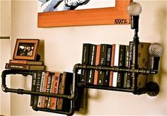 Steampunk Home Decor, these bookshelves are easy to assemble and they're original. Guaranteed to get some positive attention.