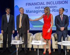 Dutch Queen Maxima at 2016 annual meetings of the World Bank Group and International Monetary Fund