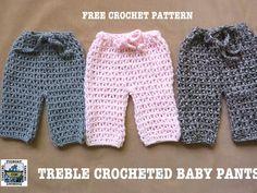 Treble Crocheted Baby Pants