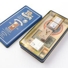トラベラーズノート ミニ 10周年缶セット キャメル(15197006)