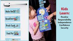 Need this!  Easy Daysies Magnetic Schedules for Kids #mompact
