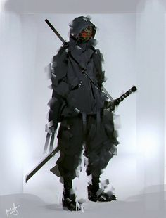 Nightshade by benedickbana on DeviantArt - Katana Fantasy Character Design, Character Design Inspiration, Character Concept, Character Art, Arte Ninja, Ninja Art, Mode Cyberpunk, Cyberpunk Fashion, Futuristic Armour