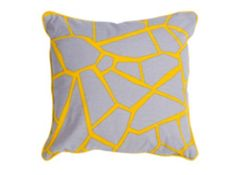 Verdon Cushion 45 x 45cm, Grey and Yellow Mix