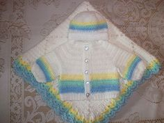 Baby Boy Layette Crochet Free | Crochet Baby Boy Sweater Set Layette Perfect for Baby Shower Gift or ...