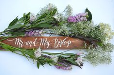 Beautiful wood piece for engagement/ wedding  Handlettering by Courtney Shelton