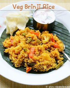 South Indian tamil nadu style brinji rice with vegetables (No coconut version) Veg Recipes, Indian Food Recipes, Real Food Recipes, Vegetarian Recipes, Cooking Recipes, Ethnic Recipes, Briyani Recipe, Vegetable Dishes