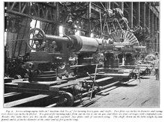 Bethlehem Steel machining big gun 1899