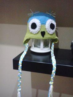 hačkovaná čiapka sovička Crochet Hats, Beanie, Fashion, Knitting Hats, Moda, Beanies, Fasion, Trendy Fashion, La Mode