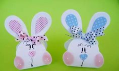 Crafts To Do, Crafts For Kids, How To Make Paper, Easter Bunny, Stampin Up, Projects To Try, Presents, Gift Wrapping, Baby Shower