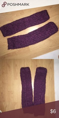 Purple leg warmers Purple leg warmers Accessories
