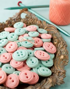 These are little vanilla cream cheese button cookies . They're adorable and I had too much fun with these button cookies! My favorite thi...