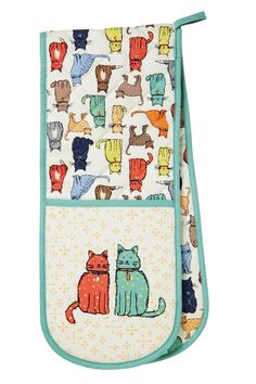 Plethora of Cats and Kittens Pattern Charm Zipper Pull Aid