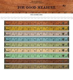 For Good Measure wooden rulers by KB and Friends™ are just what you need to add that vintage industrial look to your paper crafts. Just print these