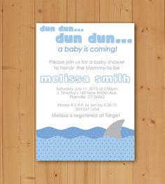 Shark Baby Shower Downloadable Invitation by JMCustomInvites on Etsy