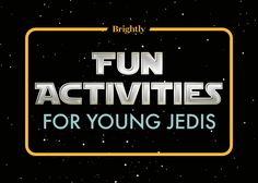 Looking for some fun Star Wars activities for your young Jedi? You've come to the right side of the Force!