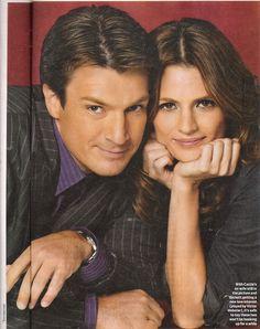 "Richard Castle & Detective Kate Beckett in  the TV show ""CASTLE"""