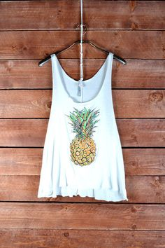 Pineapple Tank- White #ShopMCE