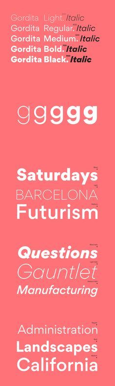 Gordita - Gordita is a minimal sans serif typeface with a geometric foundation that has been built upon wit...