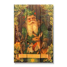 (Green) Santa 16x24-inch Indoor/ Outdoor Full Color Wall Art (16x24)