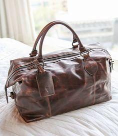 Cognac:Frye Logan Overnight Bag
