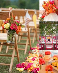 Orange and Pink Wedding Inspiration