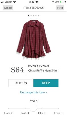 Courtney—like the color and love the ruffle hemline! New Fashion, Autumn Fashion, Saturated Color, Stitch Fix, Hemline, Style Me, January, Stylists, Menswear