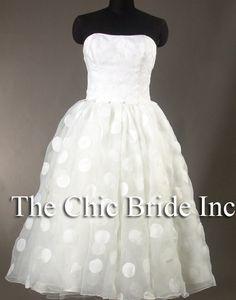 Short Polka Dot Wedding Dress by AmoreFinale on Etsy