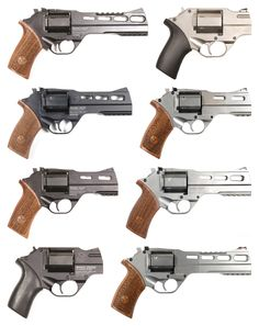 Manufacturer: Chiappa Model: Rhino Finish: Blued or Nickel Construction: Carbon Steel Action: Double-action Operation: ? Type: Revolver Caliber: .357 Magnum, 9x19mm Parabellum, .40 S&W, or 9x21mm IMI Capacity: 6 Year(s) Produced: 2009-Present (2014) Quantity Produced: ? Left Column, Top-to-Bottom: 60DS, 50DS, 40DS, & 200DS Right Column, Top-to-Bottom: 20DS, 40DS, 50DS, & 60DS White Rhinos