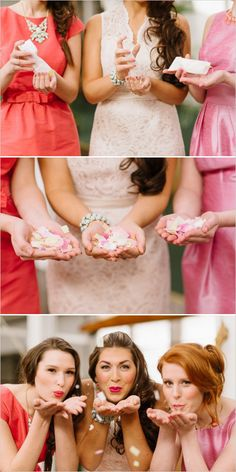 Bridal shower inspiration and confetti favors. Captured By: Caroline Talbot Photography ---> http://www.weddingchicks.com/2014/05/19/spring-bridal-shower-and-cocktails/