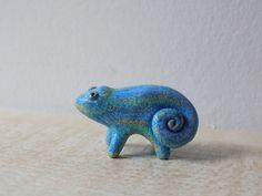 Lizard Miniature Animal Totem Figurine by WoodlandBeings on Etsy