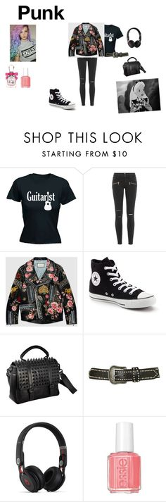 """""""punk"""" by mazzagliadavide on Polyvore featuring moda, Disney, Paige Denim, Gucci, Converse, RK New York, Topshop, Beats by Dr. Dre e Juicy Couture"""
