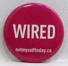 Wired Pin Badge Button Pinback Pin Badges, Wire, Buttons, Ebay, Knots, Cord, Plugs, Cable