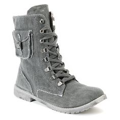 Roxy Black Wash Canvas Ponderosa Boots - I LOVE THESE ONES TOO.