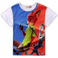 Zootopia Judy Rabbit Fox Youth boys girls kids fashion clothing baby girl tee tshirt t-shirt