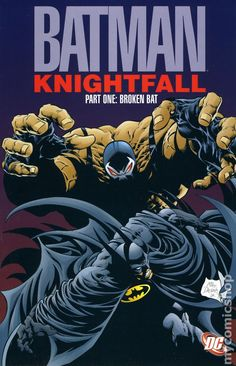 Batman Knightfall TPB (1993-1995 DC) 1st Edition DC Comic Book cover Modern Age  1-REP Bane
