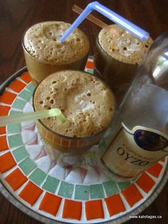 frappe with ouzo - never tried it, but i need to!