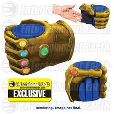 Harness the power of the Infinity Gems and seize control. of your coffee! Featuring the six Infinity Gems, the Marvel Thanos Infinity Gauntlet 11 oz. Prop Replica Molded Mug Thanos Infinity Gauntlet, The Infinity Gauntlet, Geek Christmas Gifts, Infinity Gems, Marvel Infinity, Thanos Marvel, Marvel Comics, Geek Decor, Hand Chain