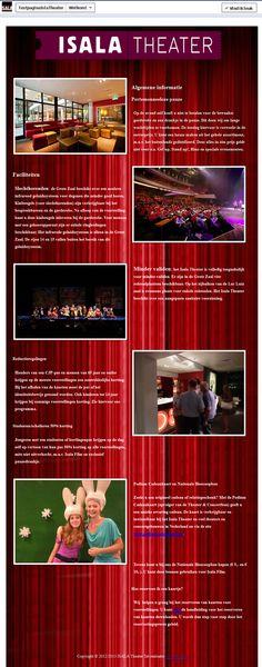 Isala Theater Welkom Tab.  $149.95