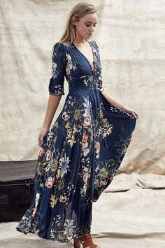 Beautiful v neck boho floral paisley tie empire waist stretchy slit ruffle summer fall fashion cocktail party maxi dress Measurements Medium Bust Waist Length inches Large Bust inches Waist Length inches Backless Maxi Dresses, White Maxi Dresses, Maxi Dress With Sleeves, Casual Dresses, Floral Dresses, Dress Black, Short Beach Dresses, Summer Dresses For Women, Floral Chiffon Dress