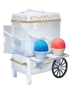 This looks so fun and perfect for summer time! Old Fashioned Snow Cone Maker 73% OFF - Only $22.99!  becomeacouponqueen.com