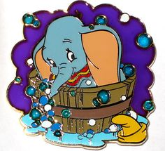 ✿disney Pin✿le✿baby Dumbo✿stained Glass Bath Tub Time✿bubbles✿soap✿water✿lovely | eBay