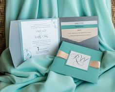 Beautiful Invitations. Real Wedding. DPark Photography via CeremonyMagazine.com