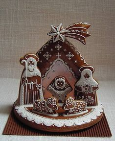 Gingerbread Village, Christmas Gingerbread House, Christmas Nativity Scene, Gingerbread Cake, Christmas Love, Christmas Crafts, Christmas Desserts, Christmas Baking, Christmas Cookies