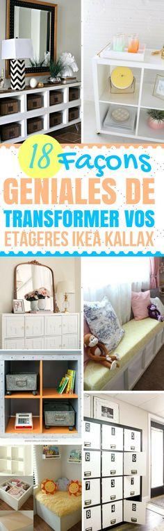 J'ai la chance d'avoir un magasin Ikea pas très loin de chez moi. Ce qui me permet d'y aller assez régulièrement ! Leurs produits sont de bonnes qualités et pas très chers. L'étagère Ikea Kallax est l'une des étagères les plus vendues et les plus fonctionnelles que le magasin propose. Elle est parfaite pour l'organisation ! Ce qu'on peut lui reprocher, c'est son côté un peu fade... #ikea #astucesikea #ikeakallax #astuces #trucs #trucsetastuces #bricolage Transformers, Diy Casa, Ikea Hackers, Storage Solutions, Interior Inspiration, Living Room Decor, Sweet Home, Table, House